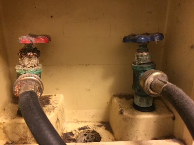 deteriorated washing machine hoses