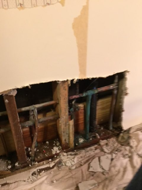 a leak before repair